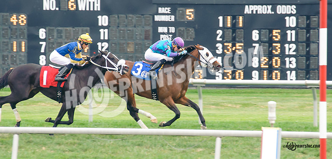 Take It Inside winning in at Delaware Park on 9/25/15