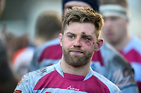 Caolan Ryan of Rotherham Titans looks on after the match. Greene King IPA Championship match, between Rotherham Titans and Bedford Blues on January 17, 2018 at Clifton Lane in Rotherham, England. Photo by: Patrick Khachfe / Onside Images