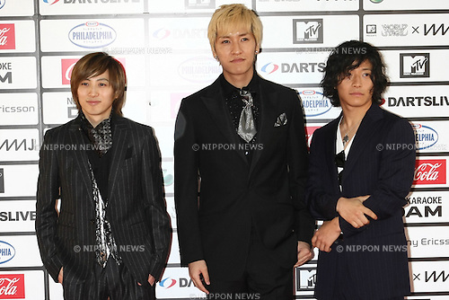 TOKYO - MAY 29: W-inds band members arrive at the red carpet of the World Stage MTVJ 2010 show, May 29, 2010 at Yoyogi National Stadium in Tokyo, Japan.
