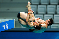 Picture by Rogan Thomson/SWpix.com - 16/07/2017 - Diving - Fina World Championships 2017 -  Duna Arena, Budapest, Hungary - Tom Daley and Dan Goodfellow of Great Britain in action during practice.