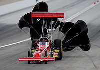 Nov. 1, 2008; Las Vegas, NV, USA: NHRA top fuel dragster driver Joe Hartley during qualifying for the Las Vegas Nationals at The Strip in Las Vegas. Mandatory Credit: Mark J. Rebilas-