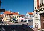 Mrągowo 2019-08-15. Kamienice w centrum miasta.