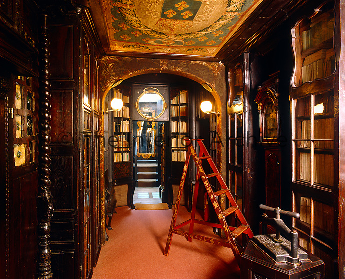 The library at Hauteville House, the home on the island of Guernsey where the poet Victor Hugo lived in exile