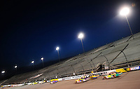 May 2, 2008; Richmond, VA, USA; NASCAR Nationwide Series drivers race down the backstretch during the Lipton Tea 250 at the Richmond International Raceway. Mandatory Credit: Mark J. Rebilas-US PRESSWIRE