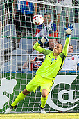 June 19th 2017, Kielce, Poland; UEFA European U-21 football championships, England versus Slovakia; Adrian Chovan (SLO) is beaten by the shot from Nathan Redmond (ENG) for 2-1 in the 61st minute