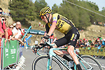 Robert Gesink (NED) Team Jumbo-Visma in 4th place with 1km to go to the end of Stage 6 of La Vuelta 2019 running 198.9km from Mora de Rubielos to Ares del Maestrat, Spain. 29th August 2019.<br /> Picture: Colin Flockton | Cyclefile<br /> <br /> All photos usage must carry mandatory copyright credit (© Cyclefile | Colin Flockton)