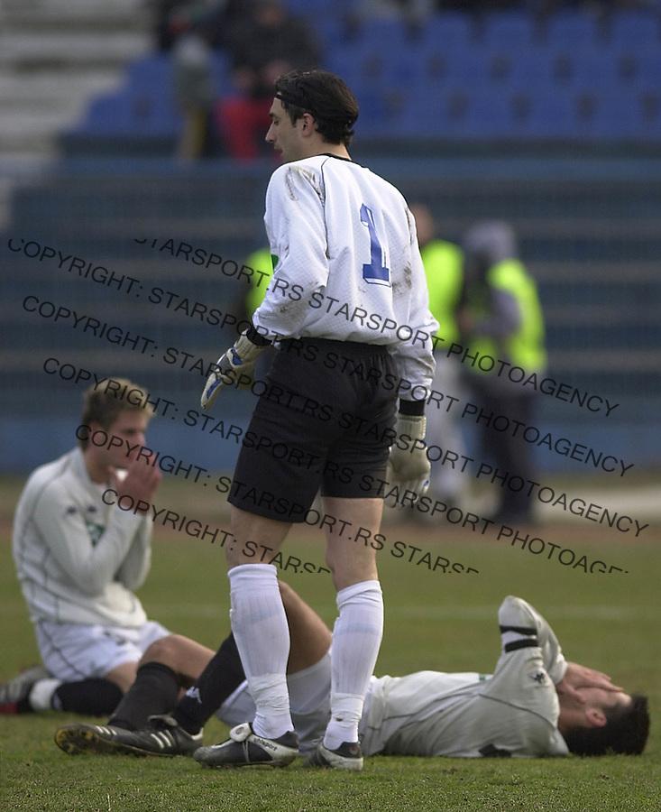 SPORT FUDBAL OFK BEOGRAD PARTIZAN  13.03.2004. Stevanovic foto: Pedja Milosavljevic<br />