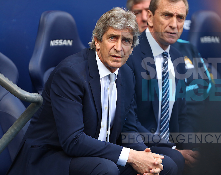 Manuel Pellegrini, manager of Manchester City during the Barclays Premier League match at the Etihad Stadium. Photo credit should read: Philip Oldham/Sportimage