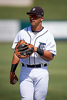 Detroit Tigers Sam McMillan (32) during warmups before an Instructional League game against the Toronto Blue Jays on October 12, 2017 at Joker Marchant Stadium in Lakeland, Florida.  (Mike Janes/Four Seam Images)