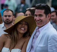HALLANDALE BEACH, FL - March 31: Scenes from Florida Derby Day at Gulfstream Park on March 31, 2018 in Hallandale Beach, FL. (Photo by Carson Dennis/Eclipse Sportswire/Getty Images.)