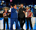CORAL GABLES, FL - APRIL 28: Juan Gabriel and Juanes performs onstage at the Billboard Latin Music Awards at the BanKUnited Center on Thursday April 28, 2016 in Coral Gables, Florida. ( Photo by Johnny Louis / jlnphotography.com )