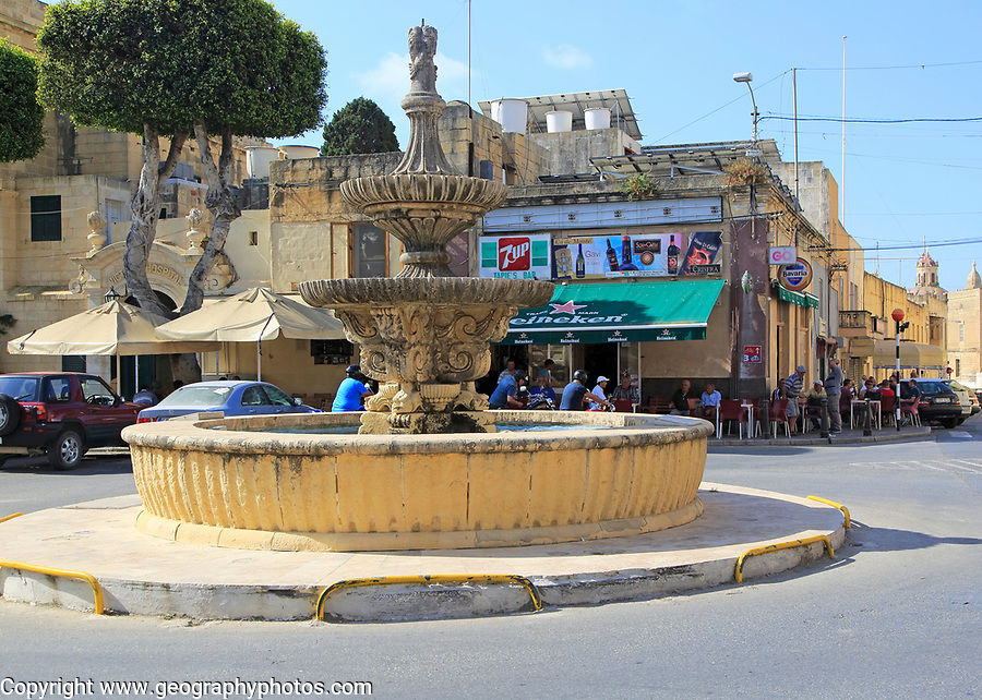 Saint Francis square in town of Victoria Rabat, island of Gozo, Malta