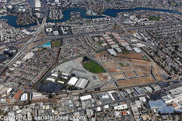 aerial photograph Bay Meadows development, San Mateo, California