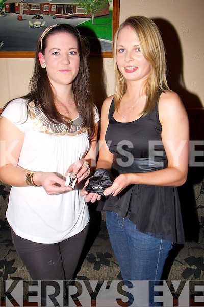 CHAMPIONS: All-Ireland winner in Handball 6 times l-r: Ashley Prendiville and Marie Daly who wionb 6 All Ireland title between them in Handball and members of the Ballymacelligott Handball Club..................... ..........