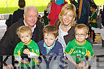 From Left Colum Kelliher, Paddy Moran, Jimmy Kelliher, Elaine Kelliher, Cathal Kelliher (Kilgarvin) Kerry supporters at the Kerry Senior Football Team Media day at Fitzgerald Stadium on Saturday.