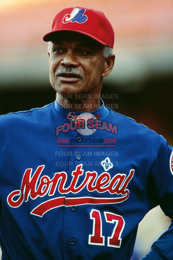 Montreal Expos Manager Felipe Alou during a game against the Los Angeles Dodgers at Dodger Stadium circa 1999 in Los Angeles, California. (Larry Goren/Four Seam Images)