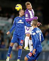 Getafe's Mane Jimenez (l) and Real Valladolid's Patrick Ebert during La Liga match.November 18,2012. (ALTERPHOTOS/Acero) NortePhoto