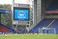 18th July 2020; Ewood Park, Blackburn, Lancashire, England; English Football League Championship Football, Blackburn Rovers versus Reading; Reading players warm up prior to the kick off
