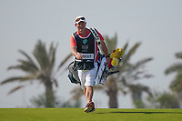 John caddy for Lucas Herbert (AUS) on the 9th during Round 4 of the Saudi International at the Royal Greens Golf and Country Club, King Abdullah Economic City, Saudi Arabia. 02/02/2020<br /> Picture: Golffile | Thos Caffrey<br /> <br /> <br /> All photo usage must carry mandatory copyright credit (© Golffile | Thos Caffrey)