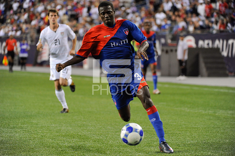 Frantz Gilles (3) of Haiti (HAI). The United States and Haiti played to a 2-2 tie during a CONCACAF Gold Cup Group B group stage match at Gillette Stadium in Foxborough, MA, on July 11, 2009. .