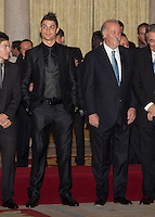 Cristiano Ronaldo and Vicente del Bosque attend the National Sports Awards ceremony at El Pardo Palace. December 05, 2012. (ALTERPHOTOS/Caro Marin) NortePhoto