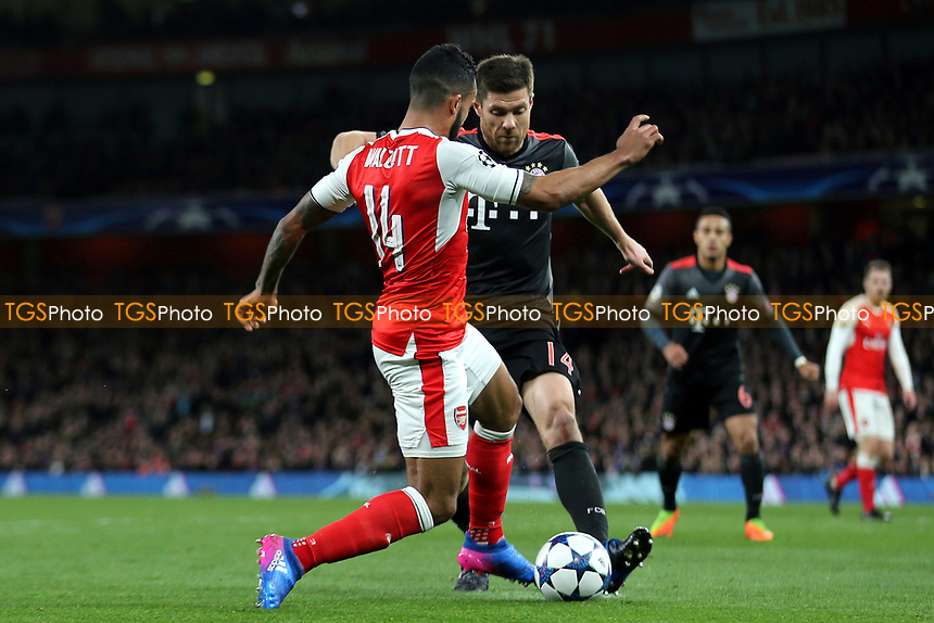 Arsenal Manager, Arsene Wenger, said in his post match press conference that Arsenal should have been awarded a penalty when FC Bayern Munich's Xabi Alonsa tackled Theo Walcott during Arsenal vs FC Bayern Munich, UEFA Champions League Football at the Emirates Stadium on 7th March 2017