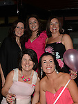 Scosaimhín McCarron, Michelle Clinton, Siobhan Dermody, Elaine McDonnell and Emily Cummins who attended the 'Pink & Bling' in aid of breast cancer awareness at the Black Bull. Photo:Colin Bell/pressphotos.ie