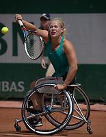 Paris, France, 7 June, 2017, Tennis, French Open, Roland Garros,  Wheelchair women, Diede Groot (NED)<br /> Photo: Henk Koster/tennisimages.com