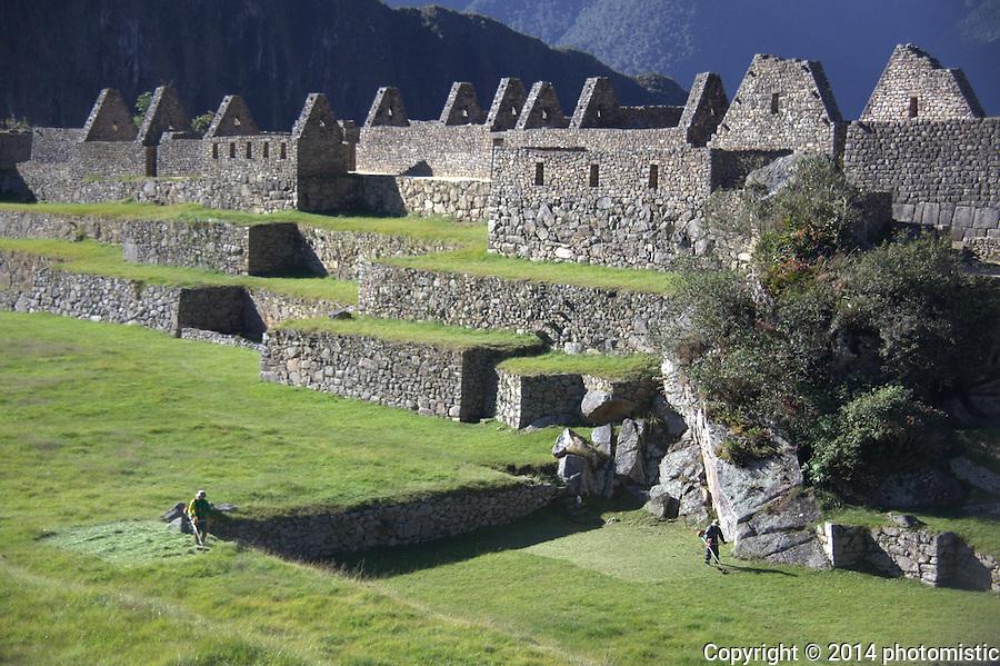 weedeating Machu Picchu