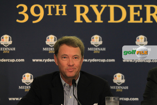 US Ryder Cup Captain Davis Love III announces part of his team for the forthcoming Ryder Cup in Medinah, press conference held in Charlestown, South Carolina, USA 13th August 2012 (Photo Eoin Clarke/www.golffile.ie)