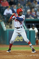 Juan Pascal (10) of the Hagerstown Suns at bat against the Greensboro Grasshoppers at First National Bank Field on April 6, 2019 in Greensboro, North Carolina. The Suns defeated the Grasshoppers 6-5. (Brian Westerholt/Four Seam Images)