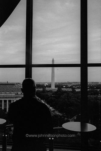 Washington monument from the POV lounge, Washington, DC.