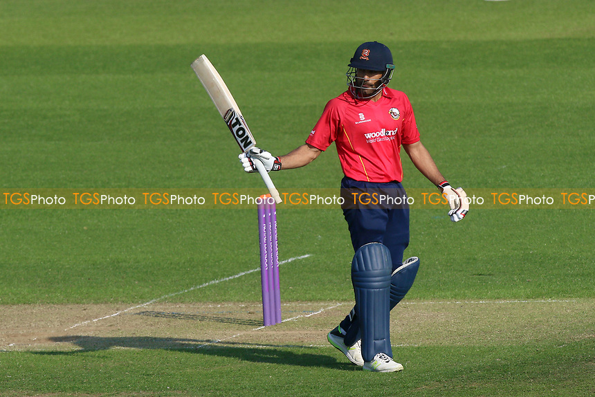 Ravi Bopara of Essex celebrates scoring a half-century, 50 runs during Glamorgan vs Essex Eagles, Royal London One-Day Cup Cricket at the SSE SWALEC Stadium on 7th May 2017