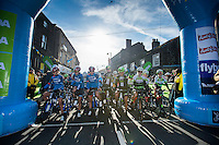 Picture by Allan McKenzie/SWpix.com - 30/04/2016 - Cycling - 2016 Asda Women's Tour de Yorkshire: Otley to Doncaster - Yorkshire, England - Riders prepare to set off at the Women's TDY race in Otley.