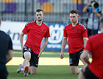15.08.18 Rangers in Maribor: Jamie Murphy and Glenn Middleton