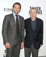 NEW YORK, NY - NOVEMBER 12: Bradley Cooper and Roberto De Niro at the 'Silver Linings Playbook' Tribeca Teaches Benefit Premiere at the Ziegfeld Theatre on November 12, 2012 in New York City. Credit: RW/MediaPunch Inc. /NortePhoto/nortephoto@gmail.com