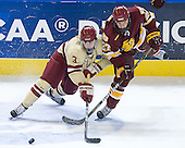 Patch Alber (BC - 3), David Grun (Duluth - 27) - The Boston College Eagles defeated the University of Minnesota Duluth Bulldogs 4-0 to win the NCAA Northeast Regional on Sunday, March 25, 2012, at the DCU Center in Worcester, Massachusetts.