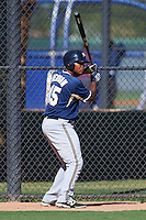 Milwaukee Brewers David Denson (45) during an instructional league game against the Los Angeles Dodgers on October 13, 2015 at Cameblack Ranch in Glendale, Arizona.  (Mike Janes/Four Seam Images)