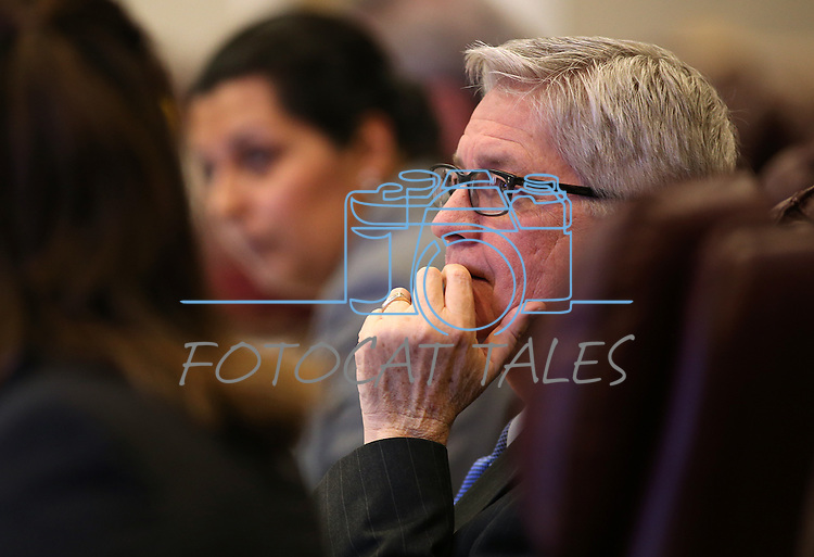 Nevada Assemblyman Erven Nelson, R-Las Vegas, works in committee at the Legislative Building in Carson City, Nev., on Tuesday, Feb. 10, 2015. <br /> Photo by Cathleen Allison