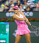 Sabine Lisicki (GER) during her semifinal match against Jelena Jankovic (SRB). Jankovic advanced to Sunday's final after defeating Lisicki 36 63 61 at the BNP Parisbas Open in Indian Wells, CA on March 20, 2015.