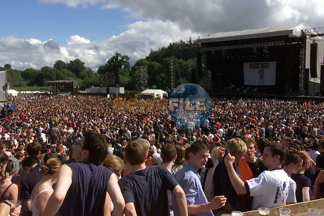 Part of the 80,000 fans that have gathered at the Boyneside site of Slane Castle of the the summer concert of the year the Red Hot Chilli peppers at Slane Castle..Picture Fran Caffrey Newsfile