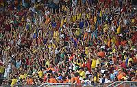 FUSSBALL WM 2014  VORRUNDE    Gruppe B     Spanien - Niederlande                13.06.2014 Spanische Fans wagen eine Laola