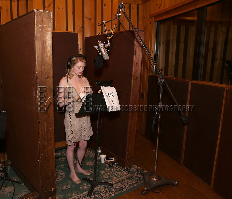 Ruby Lewis during the making of the Broadway cast recording of 'Paramour' at Avatar Studios on June 29, 2016 in New York City.