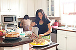 Friends and family gather for an Eid, a lunch feast after fasting for Ramadan, at Nidal and Ghada Einajjar's home in Norcross, Georgia August 30, 2011...Kendrick Brinson/LUCEO