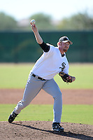 Chicago White Sox pitcher Nick Blount (48) during an Instructional League game against the Los Angeles Dodgers on October 12, 2013 at Camelback Ranch Complex in Glendale, Arizona.  (Mike Janes/Four Seam Images)