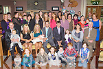BABY JOY: Proud parents Mary Barrett and Joe Reynolds, Ballymac and Castleisland (seated centre) of little Jay who was Christened in St Stephen's and St Paul's Church, Castleisland by Fr Dan Riordan and celebrated afterwards with family and friends at O'Riada's restaurant and bar, Ballymac on Sunday..