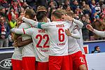 01.12.2018, RheinEnergieStadion, Koeln, GER, 2. FBL, 1.FC Koeln vs. SpVgg Greuther Fürth,<br />  <br /> DFL regulations prohibit any use of photographs as image sequences and/or quasi-video<br /> <br /> im Bild / picture shows: <br /> die Kölner freuen sich ueber das 3:0 Louis Schaub (FC Koeln #13),   Jhon Córdoba (FC Koeln #15),   Rafael Czichos (FC Koeln #5),   <br /> Foto © nordphoto / Meuter