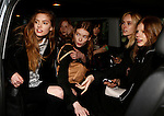 Models leave the Gucci Fashion Show as part of the Milan Fashion Week Women's wear Fall / Winter 2015 2016, in Milan on February 25, 2015.