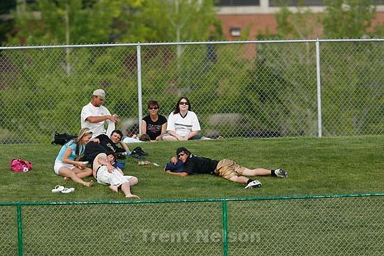 Provo - fans. Dixie vs. Snow Canyon high school baseball, 3A playoffs at UVSC..5.18.2007