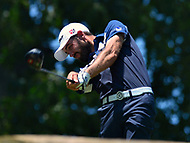 Potomac, MD - June 30, 2017: Troy Merritt tees off on the 10th hole during Round 2 of professional play at the Quicken Loans National Tournament at TPC Potomac at Avenel Farm in Potomac, MD, June 30, 2017.  (Photo by Don Baxter/Media Images International)